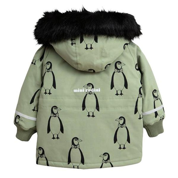 amazon double coupon sold worldwide Kids Mini Rodini Baby and Child K2 Penguin Winter Coat - Green