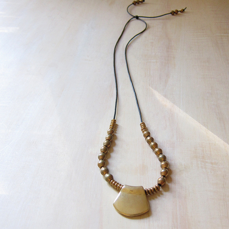 Marisa Mason Kala necklace - brass