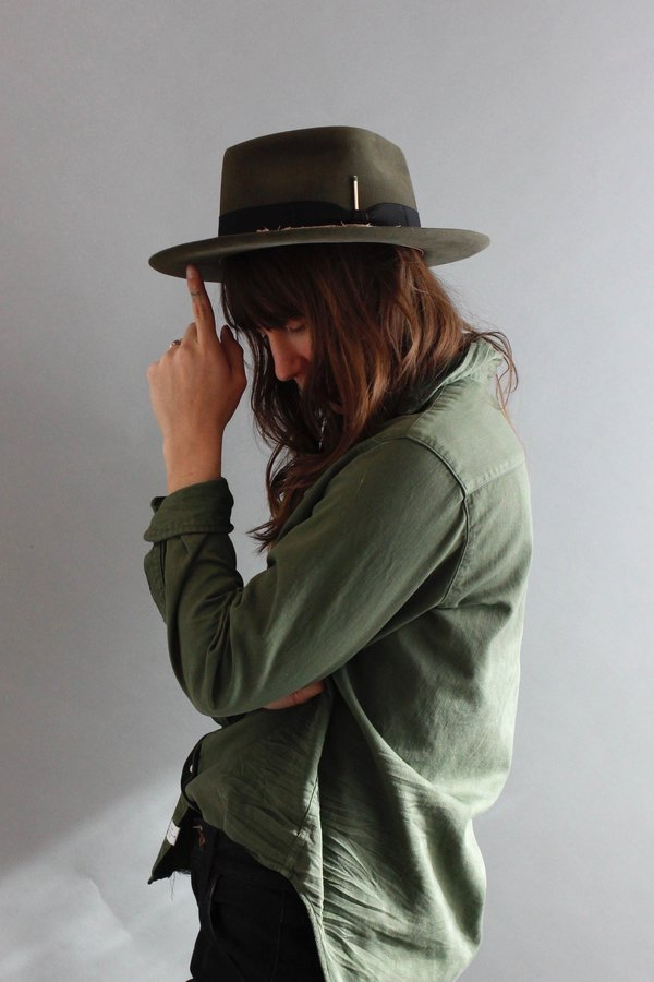 f8167499 Nick Fouquet Topanga Canyon Hat - Dark Moss | Garmentory