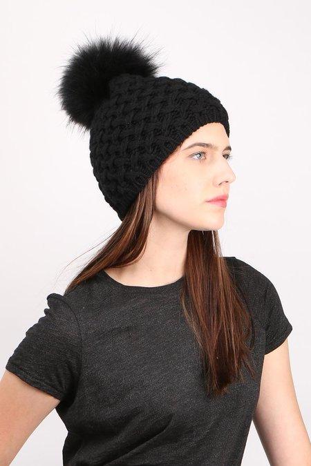 Inverni Beatrice Raccoon Beanie - Black