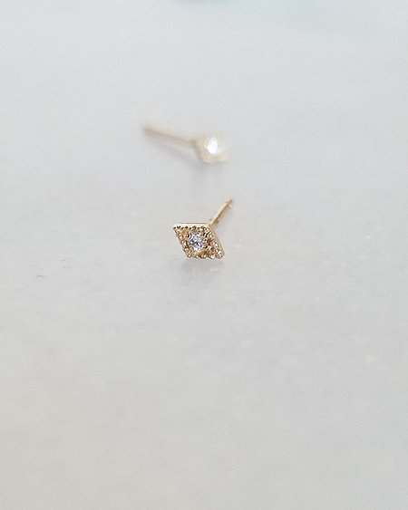 Blanca Monrós Gómez DIAMOND FILIGREE DIAMOND STUD - 14K YELLOW GOLD