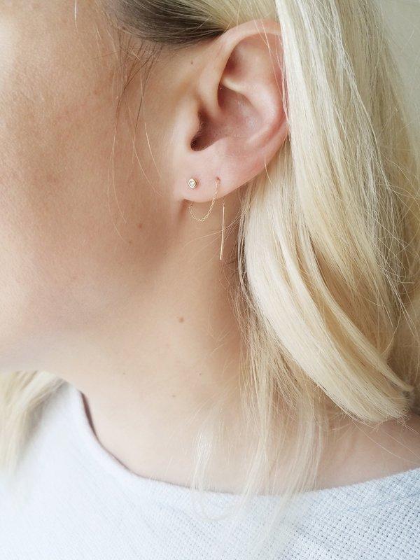 Blanca Monrós Gómez Diamond Seed Stitch Earring - Gold