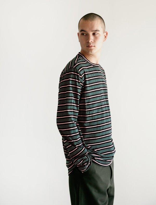 Marni Double Face Striped Reversible Long Sleeve T-Shirt