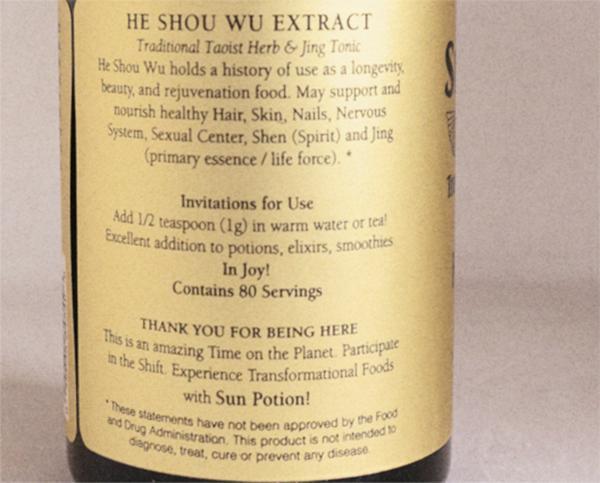 Sun Potion He Shou Wu Garmentory