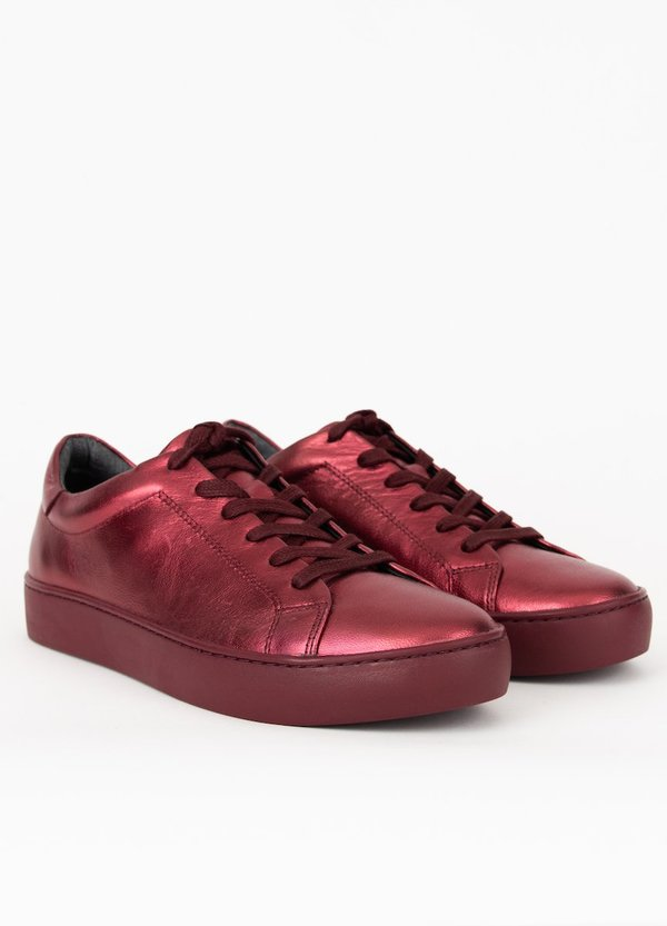 Vagabond zoe sneaker - wine-red metallic