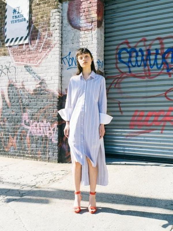 2b910a58160 And You Copenhagen Shirt Dress - Light Blue White Stripe. sold out