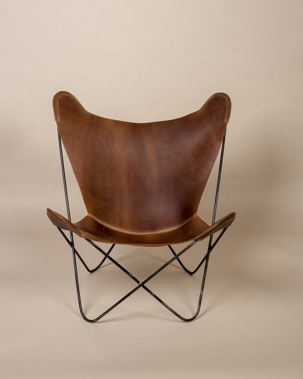 Excellent Vintage Found Butterfly Sling Chair With Leather Seating Cjindustries Chair Design For Home Cjindustriesco