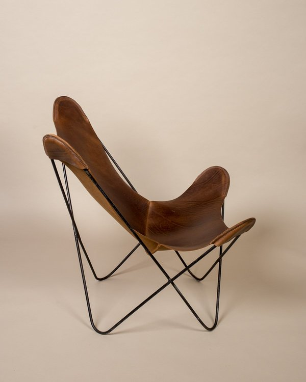 Strange Vintage Found Butterfly Sling Chair With Leather Seating Cjindustries Chair Design For Home Cjindustriesco