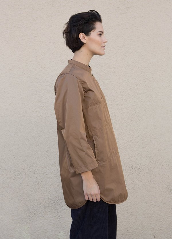 wrk-shp Rounded Anorak - Teak Brown