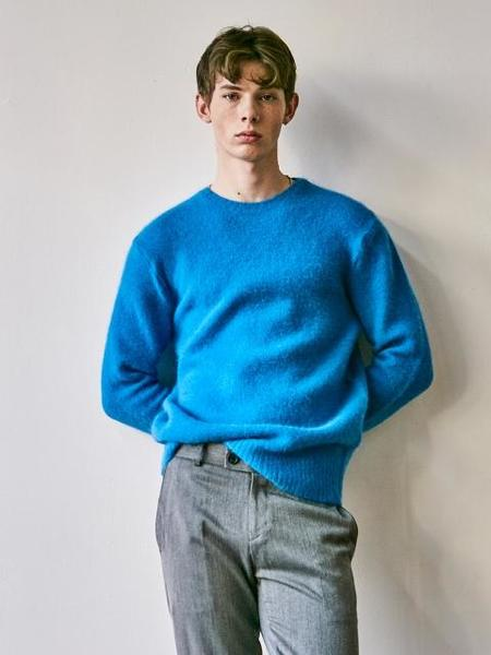 YAN13 Super Angora Sweater - Blue