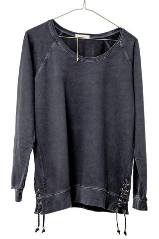 Ragdoll Lace -Up Sweater