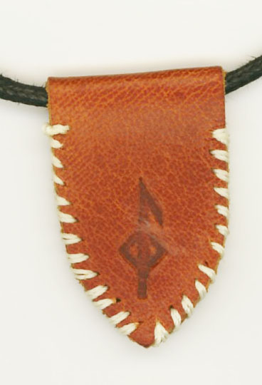 Becky Brisco Embossed Leather Badge Pendant