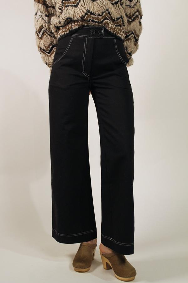 No.6 Dillon Wide Leg Trouser - BLACK