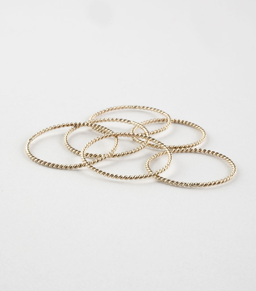 Stacker Bands: Catbird Twisted Stacker Ring