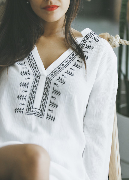 C+L Finds Embroidered Tunic in Cream