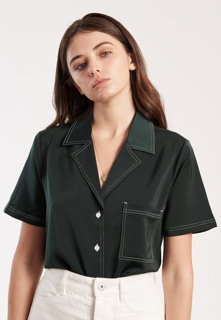 Capulet Isa Shirt - Forest Green