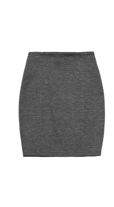Obakki High Waisted Mini Skirt with Piping