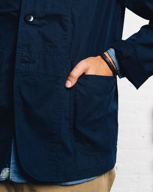 Kapital Ripstop Hospital Jacket - Navy