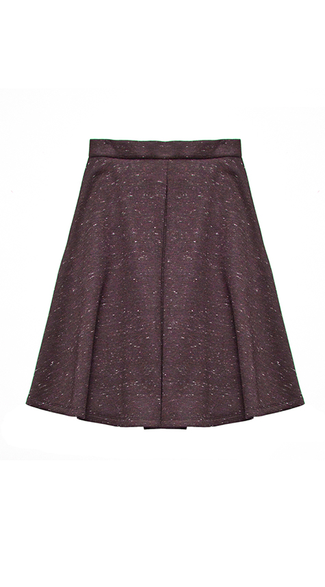 Obakki Flare Skirt with Front Pleat