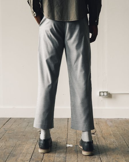 Olderbrother Pleated Wool Trouser - Grey
