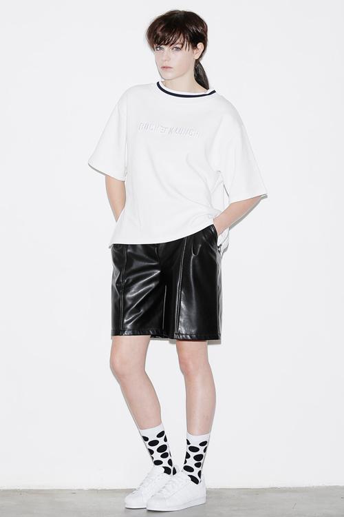 ROCKET X LUNCH Oversized Side Zip Top- White