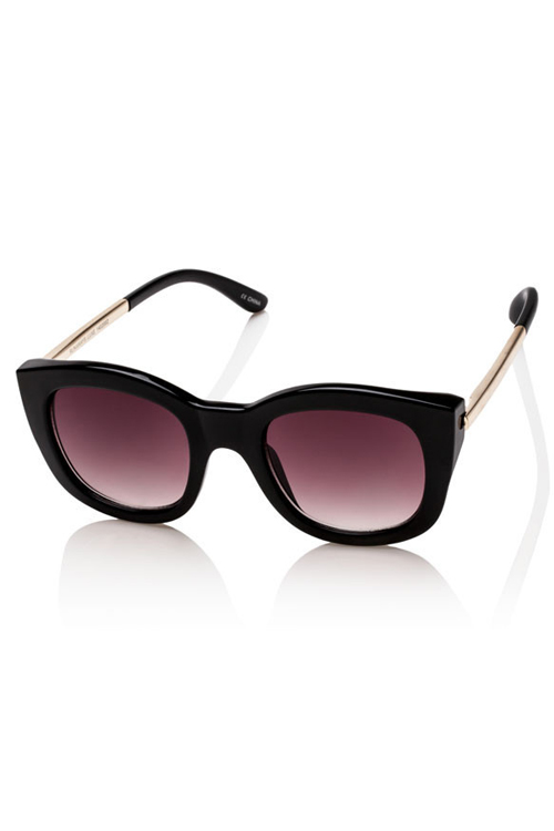 Le Specs Runaways Lux Sunglasses- Black