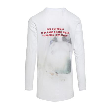 11 by Boris Bidjan Saberi LS3 Phil America T-Shirt - White
