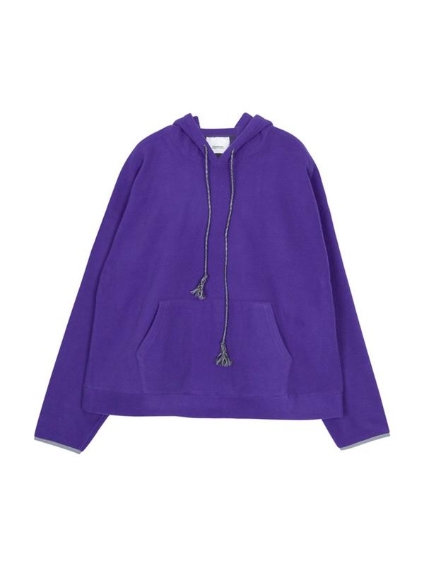 Unisex STANDALONE Kangaroo Pocket Fleece Hoodie Jacket - Purple ... f908d0624a46