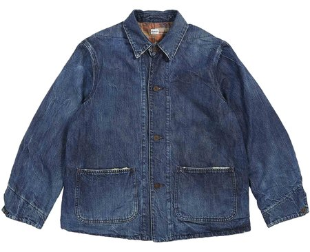 Chimala Denim Twill Flannel Work Jacket - Dark Wash Denim