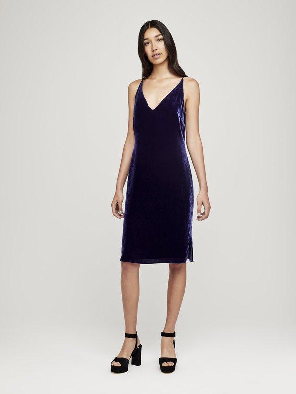 c90b793ed82b L'Agence Constance V Slip Dress - Navy | Garmentory