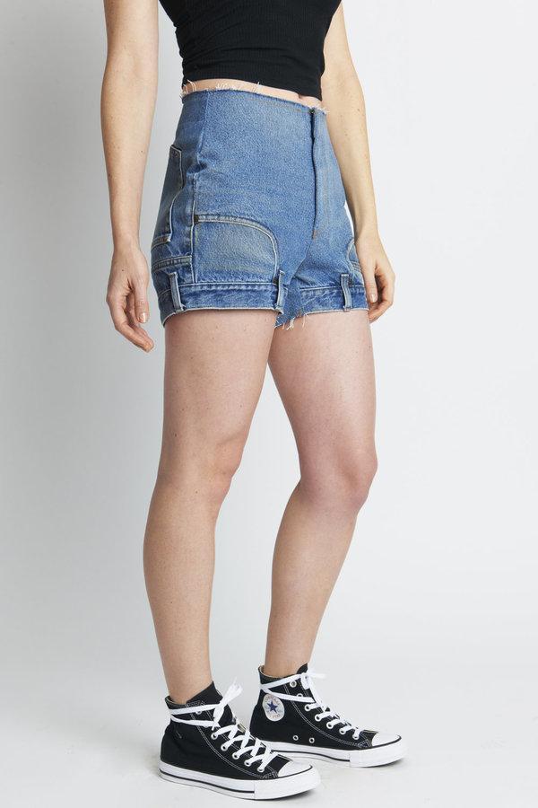 CIE Denim EL Jean Shirt - Medium Blue Wash