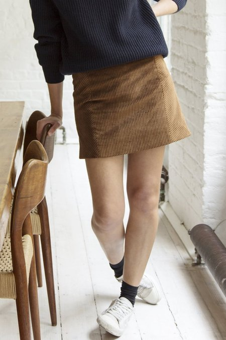 Old Frankie Mini Skirt - brown
