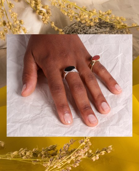 Ora-C FRANKIE Ring - brass