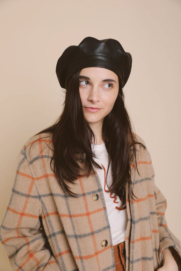 cf7f8dedf9f6a Clyde Lambskin Beret - Black. sold out. Clyde