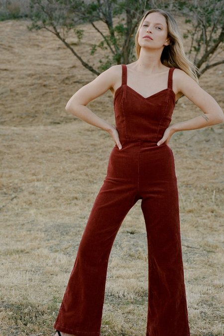Lacausa Rosie Jumpsuit - Brick