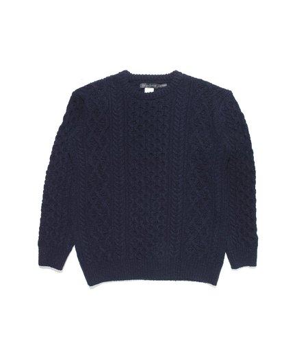 Ireland's Eye Aran Sweater - Midnight