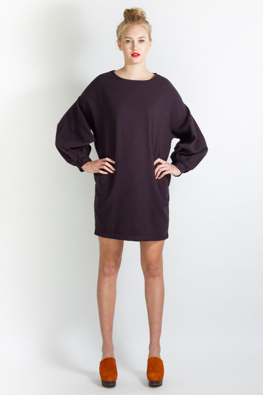 BLACK CRANE BALLOON DRESS