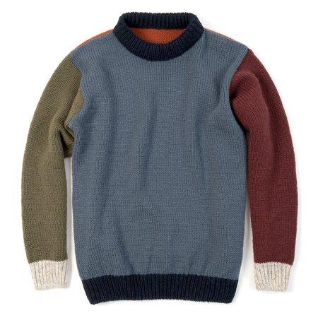 Unisex Devold Nansen Crew Neck Sweater - Six-Color Crazy Pattern