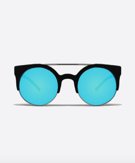 QUAY Now Sunglasses | Black Mirrored