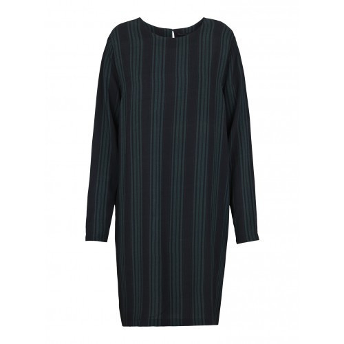 JUST FEMALE STRIPY DRESS |  JUNGLE GREEN