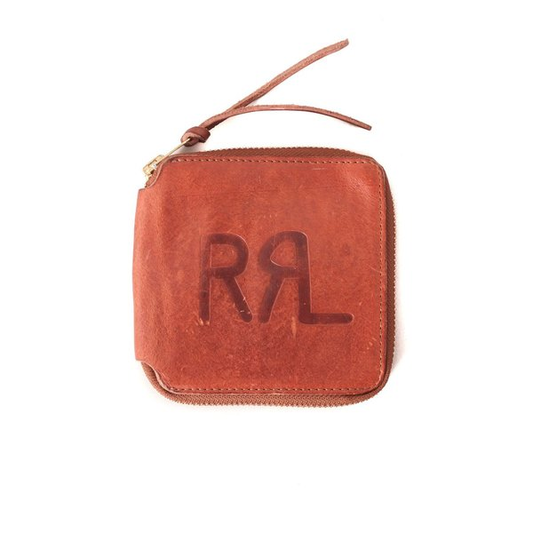 5f93a3495946 RRL Tumbled Leather Zip Wallet - Dark Brown. sold out 3