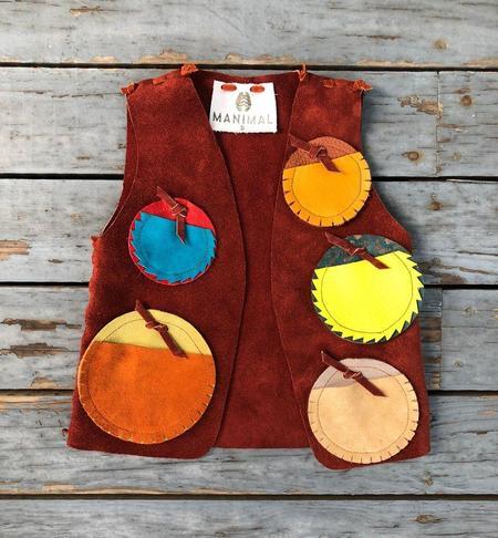 Kids Manimals Moccasins Leather Badge Vest
