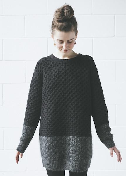 Line Knitwear Bates | Caviar / Charcoal