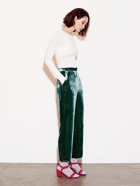 FAYEWOO Silk Velvet Pants