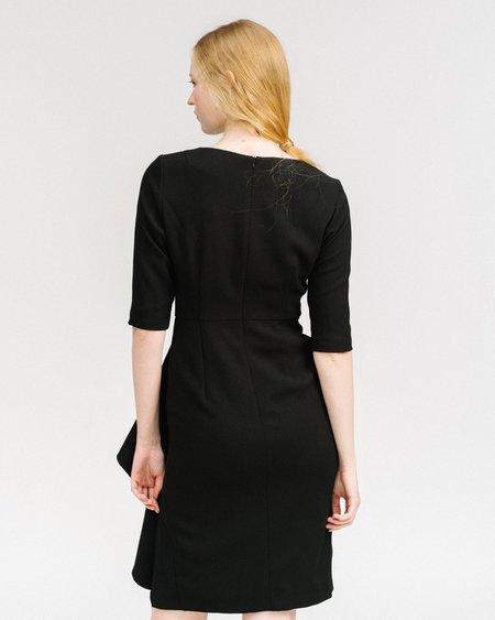 Samuji Cascading ruffle Dress - black