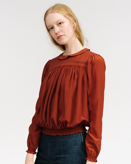 Gat Rimon silk blouse - rust