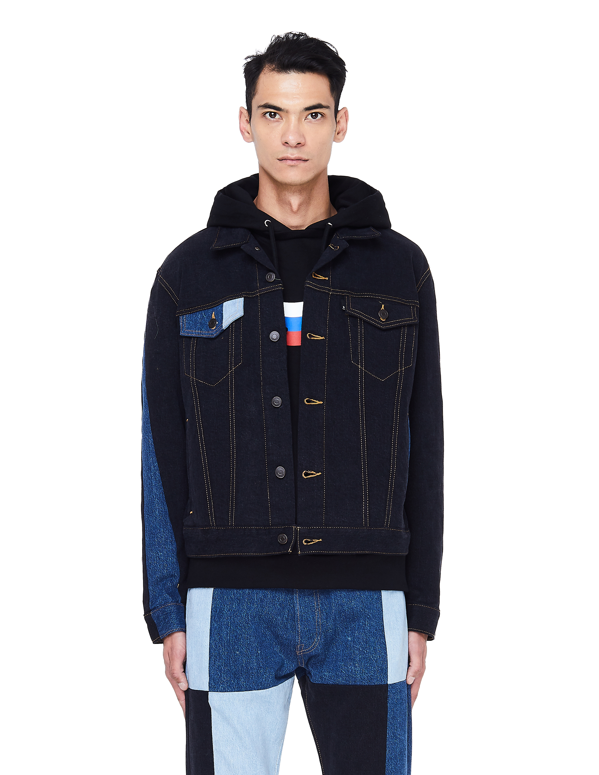 a914a4830 Gosha Rubchinskiy Patchwork Denim Jacket - Black