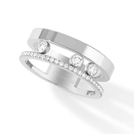 Messika Move Romane Ring with Diamonds - 18k White Gold