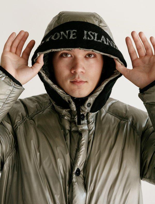 0ee486893 Stone Island Vera PI Down Capo Lungo Jacket - Dove Grey on Garmentory