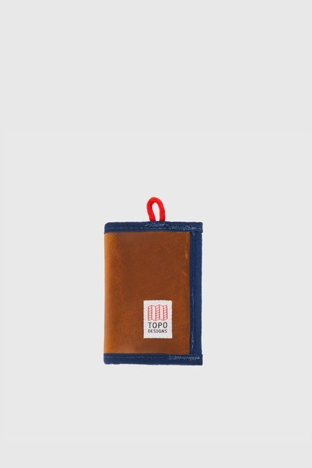 Topo Designs Leather Wallet - Brown